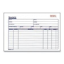 "Invoice Book, 2-Part, Carbonless, 8-7/16""x5-9/16"", 50/Black (Set of 2)"