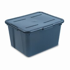 File Tote Storage Box with Lid , Legal/Letter, Plastic