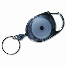 """Carabiner-Style Retractable Id Reel, 30"""" Extension, 6/Pack"""
