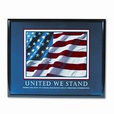 """United We Stand"" Framed Motivational Print, 31-1/2w x 25-1/2h"