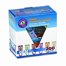 "Gem Paper Clips, Plastic, Large (1-3/8""), 200/ Box (Set of 2)"