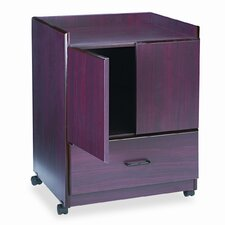Vertiflex Mobile Deluxe Coffee Bar 2 Door Storage Cabinet