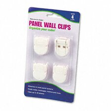 Panel Wall Clips for Fabric Panels, Standard Size, 4/Pack (Set of 3)