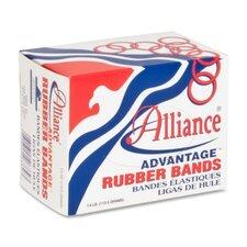 "Rubber Bands, Size 19, 1/4 lb., 3-1/2""x1/16"", Natural (Set of 4)"