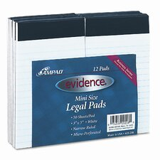 Evidence Perforated Top, Narrow/Red Margin Rule, 3 x 5, White, 50 Sheets, 12-Pack (Set of 2)