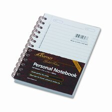 Gold Fibre Personal Notebook, College/Med Rule, 5 X 7, 100 Sheet (Set of 2)