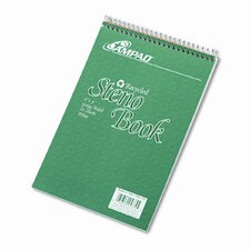 Envirotec Recycled Steno Book, Gregg Rule, 6 X 9, 80 Sheets (Set of 3)