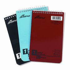 Wirebound Pocket Memo Book, Narrow Rule, 4 X 6, 40-Sheet, 3/Pack (Set of 2)