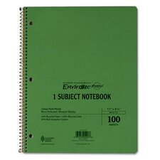 Earthwise By Oxford Wirelock Subject Notebook, College/Med Rule, 8-1/2 X 11, We, 100 Sheets (Set of 2)