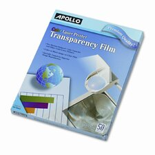Color Laser Printer/Copier Transparency Film, Letter, 50/Box