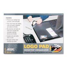 "Desk Pad w/Cover Sheet, 20""x31"", Black"
