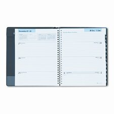 Executive Weekly/Monthly Ruled Planner, 6-7/8 x 8-3/4, Black, 2013