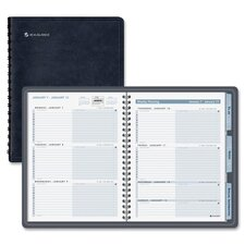 The Action Planner Weekly Appointment Book, 6-7/8 x 8-3/4, Black, 2012