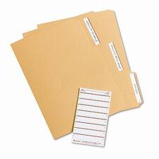 Adhesive File Folder Typewriter Labels, 3-7/16 x 15/16, Orange, 252/Pack