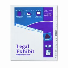 Avery-Style Legal Side Tab Divider (26 Tabs, 1 Set/Box) (Set of 3)
