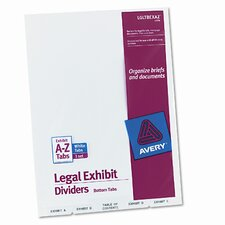 Avery-Style Legal Bottom Tab Divider with A-Z Tabs (Set of 3)
