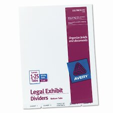 Avery-Style Legal Bottom Tab Divider (Set of 3)