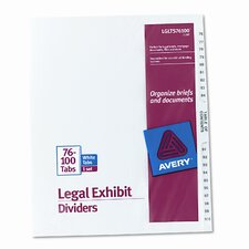 Avery-Style Legal Side Tab Divider (1 Set) (Set of 3)