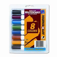 Desk Style Dry Erase Markers, Chisel Tip, Assorted, 8/Set
