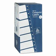 Dot Matrix Printer 1 Across Shipping Labels, 3000/Box