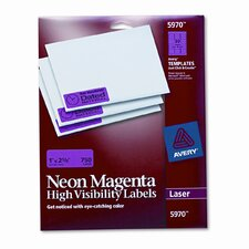 High-Visibility Laser Labels, 1 X 2-5/8, 750/Pack