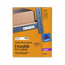 """Permanent I.D. Laser Labels, 3"""" Wide, 1600/Pack"""