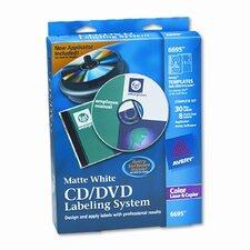 CD/DVD Design Kit, 30 Laser Labels and 8 Inserts