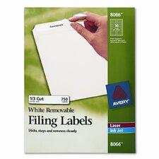 Removable Inkjet/Laser Filing Labels, 750/Pack