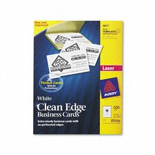 Clean Edge Laser Business Cards, 10/Sheet, 400/Box