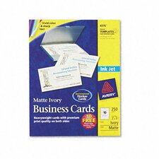 Inkjet Matte Business Cards (250/Pack)