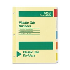 Office Essentials Insertable Tab Index Divider,5-Tab (Set of 45)