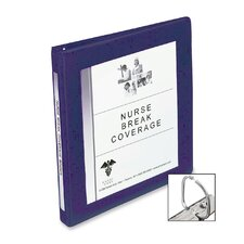 Framed Presentation Nonlocking Slant Ring View Binder, 1/2in Cap, Navy Blue