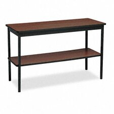 "Barricks 48""W x 18""D Utility Training Table with Bottom Shelf"