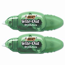 "Wite-Out Mini Correction Tape, White, 2/pk, 1/5"" x 19.8ft. (Set of 2)"