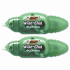 "Wite-Out Mini Correction Tape, White, 2/pk, 1/5"" x 19.8ft. (Set of 2)"