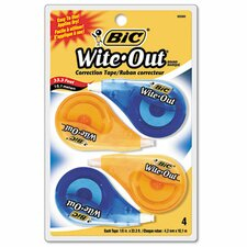 Non-Refillable Wite-Out Ez Correct Correction Tape (4/Pack)