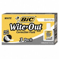 20 Ml Bottle Wite-Out Quick Dry Correction Fluid (3/Pack) (Set of 2)