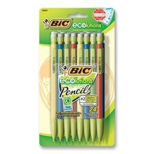 Mecanical Pencil, Recycled, Nonrefillable, .7mm, 24/PK, Assorted