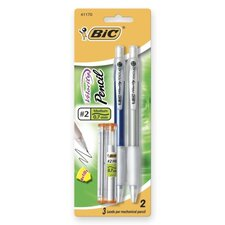 Mechanical Pencil,Refillable,Rubbergrip,.7mm,2/PK,Assorted (Set of 3)