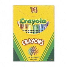 Classic Color Pack Crayons (Tuck Box, 16 Colors/Box) (Set of 4)