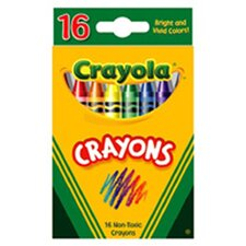 Crayola Crayons 16 Color Peggable (Set of 4)