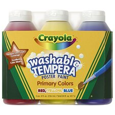 Tempera Paint Washable 3ct 8oz