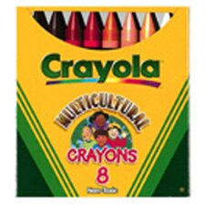 Multicultural Crayons Lrg 8-pk (Set of 3)