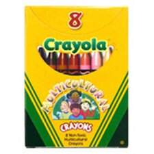 Multicultural Crayons Reg 8-pk (Set of 6)