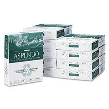 Aspen 30% Recycled Office Paper,92 Bright, 20 Lb, 8-1/2 X 11, 5000/Carton