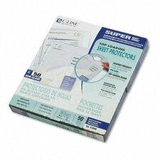 Non-Glare Super Heavyweight Polypropylene Sheet Protector, 11 X 8 1/2 (50/Box)