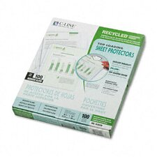 Reduced Glare Recycled Polypropylene Sheet Protector(100/Box)