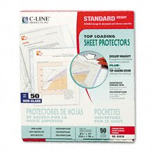 Non-Glare Standard Weight Polypropylene Sheet Protector (50/Box)