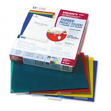Heavyweight Tabbed Jacket Project Folders (25/Box)