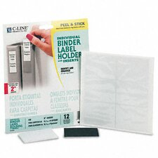 Self-Adhesive Ring Binder Label Holders, 1-3/4 X 2-3/4 (12/Pack) (Set of 2)